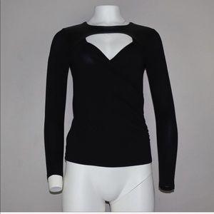 FINAL‼️ Bebe Cutout Long Sleeve Top Black Size XS